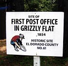 Historical site of the first post office in Grizzly Flats